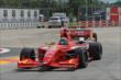 Sage Karam leads Gabby Chaves through the Turn 2 chicane in Houston -- Photo by: John Cote
