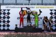 The podium of Will Power, Scott Dixon, and James Hinchcliffe raise their trophies in Houston -- Photo by: Bret Kelley