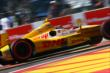 Ryan Hunter-Reay powers into the Turn 2 chicane during Race 2 of the Shell and Pennzoil Grand Prix of Houston -- Photo by: Bret Kelley