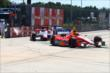E.J. Viso leads Sebastien Bourdais through the Turn 2 chicane during Race 2 of the Shell and Pennzoil Grand Prix of Houston -- Photo by: Bret Kelley