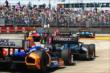 Cars fly through the Turn 2 chicane during Race 2 of the Shell and Pennzoil Grand Prix of Houston -- Photo by: Bret Kelley