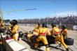 The Andretti Autosport team push Ryan Hunter-Reay back into competition -- Photo by: Chris Jones