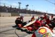 The Team Penske team perform a late-race pitstop during Race 2 of the Shell and Pennzoil Grand Prix of Houston -- Photo by: Chris Jones