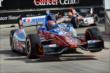 Josef Newgarden leads Oriol Servia through Turn 3 during Race 2 of the Shell and Pennzoil Grand Prix of Houston -- Photo by: Chris Owens