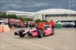The car of Dario Franchitti is wheeled out of the paddock area in Houston -- Photo by: Chris Owens