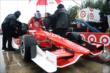 Scott Dixon climbs into his car prior to qualifications -- Photo by: Chris Owens