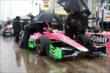 The Andretti Autosport team keep James Hinchcliffe dry during the rain delayed qualification session -- Photo by: Chris Owens