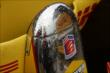 Rain droplets reflect off the glistening chrome of Ryan Hunter-Reay's nosecone -- Photo by: Chris Owens