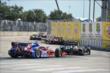 Oriol Servia leads Josef Newgarden through Turn 4 during Race 2 of the Shell and Pennzoil Grand Prix of Houston -- Photo by: John Cote