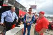 Justin Wilson, Paul Tracy and Dayle Coyne on pit road. -- Photo by: Chris Owens