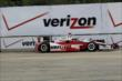 Juan Pablo Montoya on track in Practice 1. -- Photo by: Joe Skibinski
