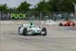 Carlos Munoz leads Simon Pagenaud during Practice 1. -- Photo by: Joe Skibinski