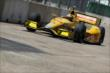 Ryan Hunter-Reay on track in Practice 2. -- Photo by: Joe Skibinski