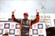 Simon Pagenaud celebrates his Pole Position. -- Photo by: Chris Jones