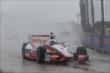 Juan Pablo Montoya runs in the rain in Race 1. -- Photo by: Chris Jones