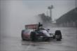 Graham Rahal runs through lots of water in Race 1. -- Photo by: Chris Jones