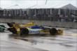 Marco Andretti spins after contact in Race 1. -- Photo by: Chris Jones