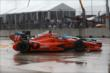 Simon Pagenaud and James Hinchcliffe fight for position during Race 1. -- Photo by: Chris Jones