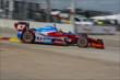 Josef Newgarden on track in Qualifying. -- Photo by: Joe Skibinski
