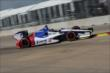 Mikhail Aleshin attacks the turn in Qualifying. -- Photo by: Joe Skibinski