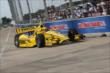 Helio Castroneves runs laps during Qualifying. -- Photo by: Joe Skibinski