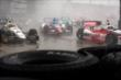 Wild action during Race 1 in the rain. -- Photo by: Richard Dowdy