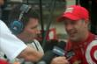 Tony Kanaan gives an interview after Race 1. -- Photo by: Richard Dowdy