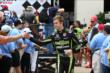 Jack Hawksworth greets fans during driver introductions. -- Photo by: Chris Jones