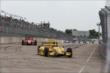Simon Pagenaud follows Helio Castroneves during Race 2. -- Photo by: Chris Jones