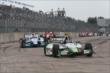 Sebastien Bourdais leads James Hinchcliffe into turn 1. -- Photo by: Chris Jones