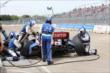 Ryan Briscoe on pit road during Race 2. -- Photo by: Chris Jones