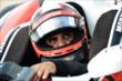 Juan Pablo Montoya waits in the car for Qualifying. -- Photo by: Chris Owens