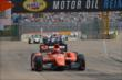 Simon Pagenaud leads the field in Race 2. -- Photo by: Chris Owens