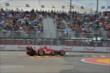Scott Dixon jumps a curb during Race 2. -- Photo by: Chris Owens