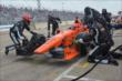 Simon Pagenaud's crew works on the car on pit road in Race 2. -- Photo by: Chris Owens