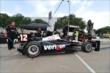 Will Power's crew prepares his car for Qualifying. -- Photo by: Chris Owens