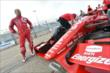Tony Kanaan waits for Qualifying to begin. -- Photo by: Chris Owens