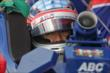 Takuma Sato waits in his car. -- Photo by: Joe Skibinski