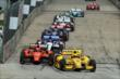 Simon Pagenaud and Helio Castroneves fight for position in Race 2. -- Photo by: Richard Dowdy