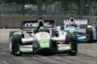Sebastien Bourdais leads James Hinchcliffe in Race 2. -- Photo by: Richard Dowdy