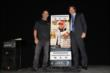 Tony Kanaan unveils the 2014 Indianapolis 500 ticket with IMS President Doug Boles -- Photo by: Chris Jones