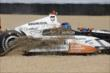 Josef Newgarden ends up in the gravel at IMS -- Photo by: Bret Kelley