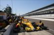 Ryan Hunter-Reay making a pit stop -- Photo by: Chris Jones