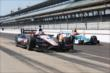 Will Power and Simon Pagenaud in pit lane -- Photo by: Chris Jones