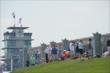 Fans gathered on the Viewing Mounds at IMS for Grand Prix of Indianapolis practice -- Photo by: Chris Owens