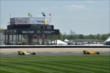 Ryan Hunter-Reay and Marco Andretti on track -- Photo by: Chris Owens