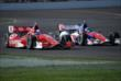Scott Dixon rides alongside Takuma Sato at IMS -- Photo by: Mike Young