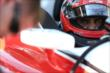 Juan Pablo Montoya in his car -- Photo by: Shawn Gritzmacher