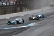 Cars heading on track for practice at IMS -- Photo by: Bret Kelley