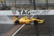 Ryan Hunter-Reay crosses the yard of bricks -- Photo by: Chris Jones